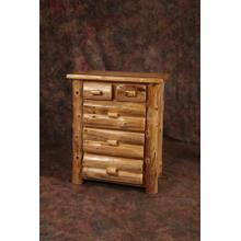 White Cedar 5 Drawer Log Chest