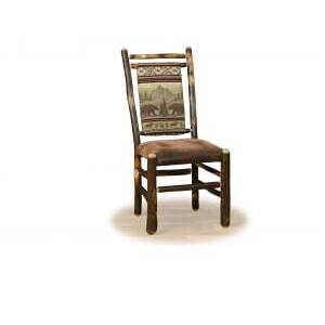 Brage Rustic Collection - Hickory Medium Back Side Chair