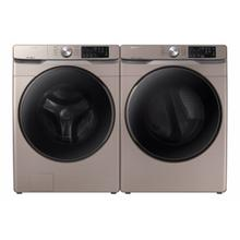 Samsung 4.5-cu ft High Efficiency Steam Cycle Front-Load Washer & 7.5 cu. ft. Gas Dryer with Steam Sanitize  in Champagne Set