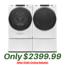 Whirlpool 5.0 Cu. Ft. Laundry Pair with 7.4 Cu, Ft. Gas Dryer