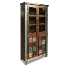 Bombay Carved Upright Storage Cabinet