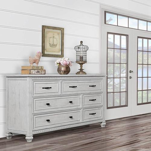 Evolur Madison Double Dresser- Antique Mist