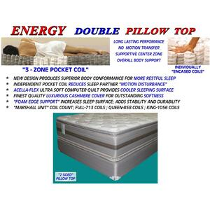 Energy Double Pillow Top - Full