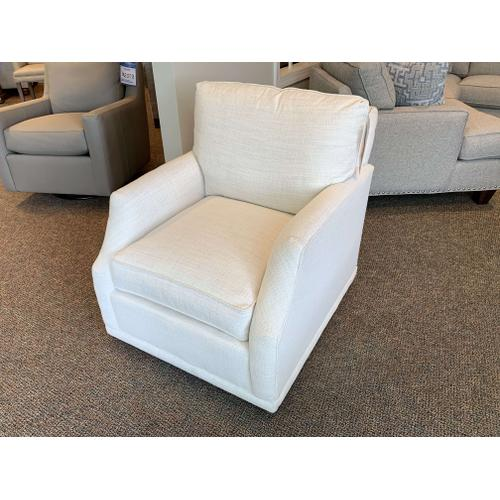 My Style II Swivel Accent Chair - Down Filled with Crypton Kid Proof Fabric