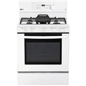 """LG 30"""" Gas Range with 5 Sealed Burners and Storage Drawer - Smooth White"""