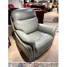 See Details - Triumph Light Grey Leather Power Recliner