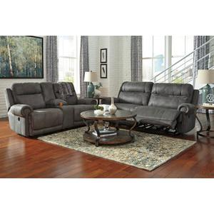 Packages - Austere- Gray Reclining Sofa and Loveseat