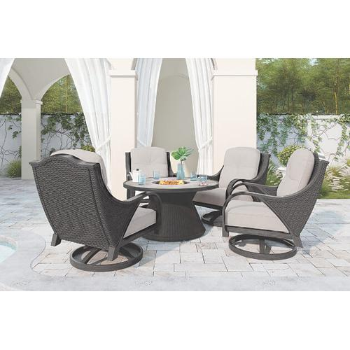 Marsh Creek Round Fire Pit Table