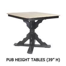 Pub Height Tables