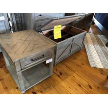 LIBERTY LIFT TOP TRUNK COCKTAIL TABLE & END TABLE