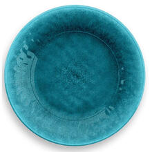 Potters Reactive Salad Plate Teal Heavy Mold