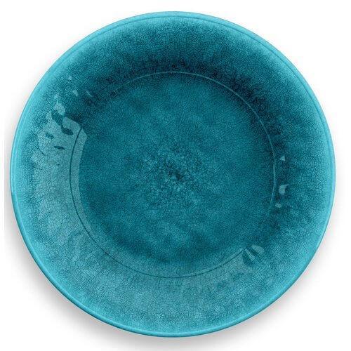 Tarhong - Potters Reactive Salad Plate Teal Heavy Mold