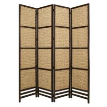Braided Rope Screen 4 Panel Room Divider