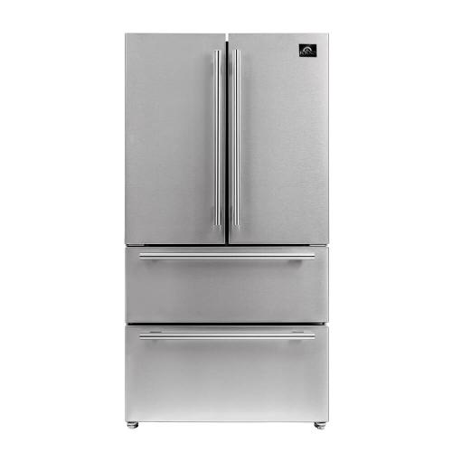 "36"" Freestanding French Door Refrigerator with Ice Maker - 19.2 cu.ft."