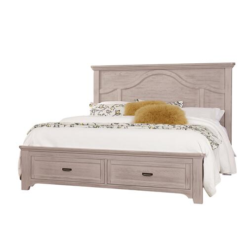 King Bungalow Dover Grey Mantel Storage Bed