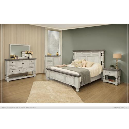 King Bed with Low Profile Footboard