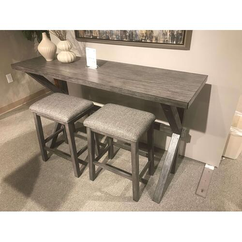Sofa Bar Set with 2 Stools