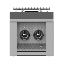 "Aspire by Hestan 12"" Double Side Burner LP Steeletto"
