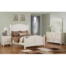 Cape Cod Eggshell White Queen Panel Bed