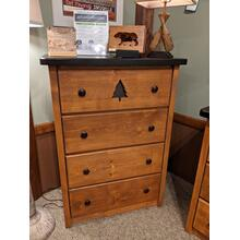 See Details - Promo Pine 4-Drawer Chest