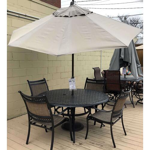 ID:201533 Treasure Garden 9' auto octagon umbrella and 50lb base