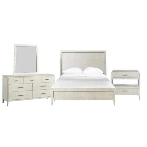 Lilly Queen Bedroom Set with Open Night Stand
