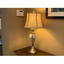 Table Lamp with Mercury Glass and Brushed Nickel