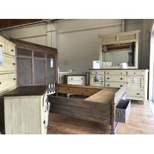 See Details - ID: 221634 5 piece bedroom suite ( dresser mir, chest, nightstand, queen storage bed)