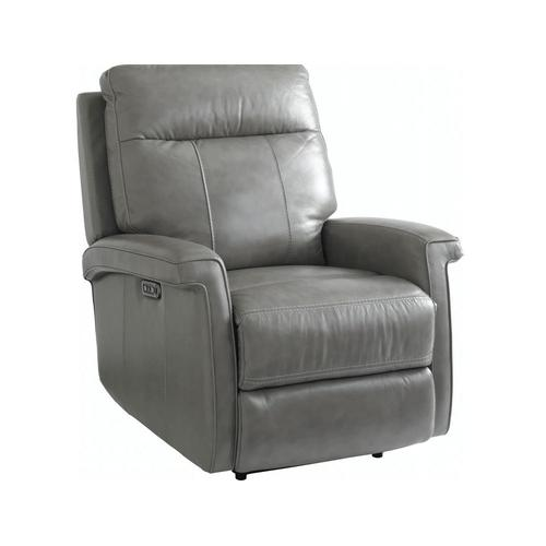 Bassett Furniture - Matthews Power Wallsaver Recliner in Pewter Leather