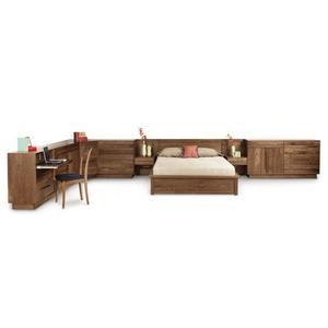 """MODULUXE 35"""" STORAGE BED WITH VENEER HEADBOARD"""