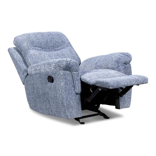 Sheffield Blue Glider Recliner