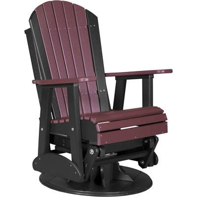 Adirondack Swivel Glider 2' Cherry and Black