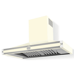 Lacornue Cornufe - Blanc Cornufe 110 Hood with Polished Chrome Accents