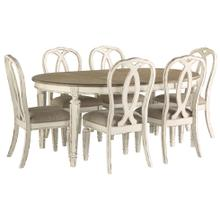 See Details - D743 Oval Table with 6 chairs and ext leaf