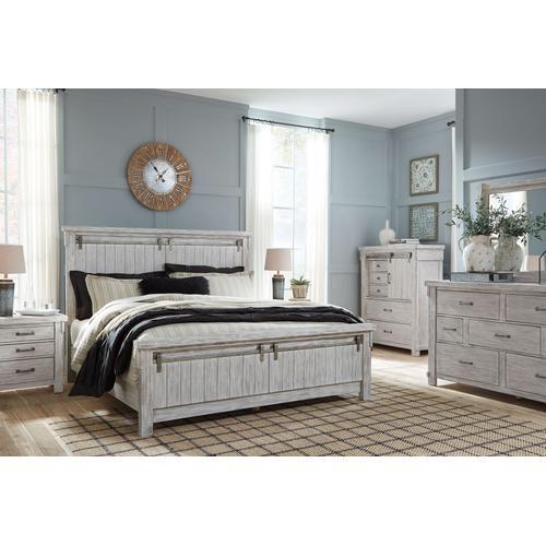 Brashland - Queen Panel Bed, Dresser, Mirror, 1 X Nightstand