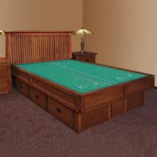 Mission Creek Waterbed With Slat Headboard & Casepieces Available in King and Queen