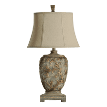 Mutli dimensional traditional table lamp
