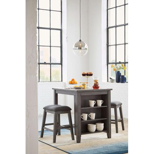 Caitbrook - Counter Height Table with 2 Backless Stools