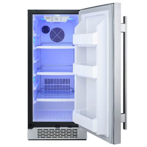 "15"" Stainless Steel Avallon 3.3 Cu FT Built-In Refrigerator"