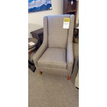 1 ONLY -Adriana accent chair- grey, patterned fabric as shown