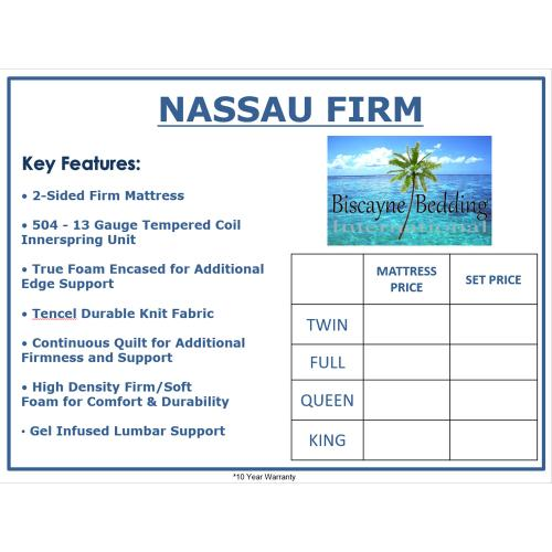 Biscayne Bedding - Nassau - Firm