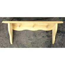 See Details - Maine Made Peg Shelf 24 24W Pine Unfinished