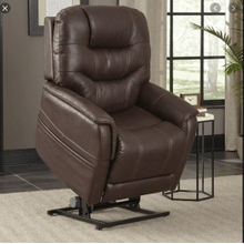 Canyon Walnut Power Lift Chair Recliner w/ Power Headrest & 3 Zone Heat     (WARE-433-WALNUT,45021)