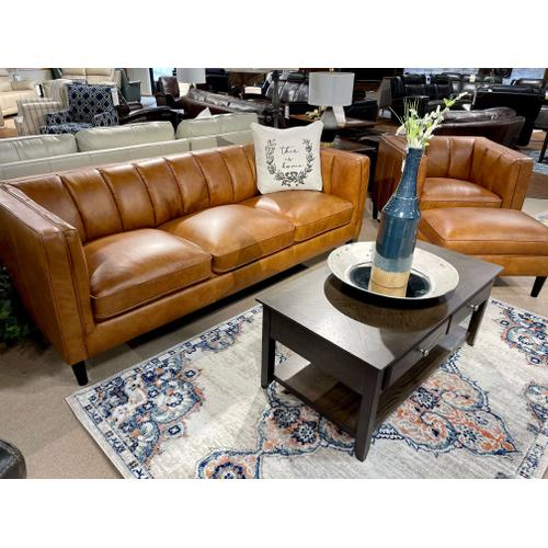 Simon Li Furniture - James Sunflower Leather Sofa, Chair & Ottoman