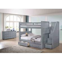 Full/Full Bunkbed with Step Drawers