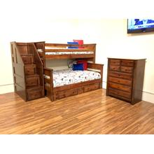 Twin / Full Bunkbed American Chestnut
