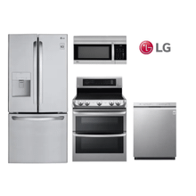 View Product - LG Kitchen with French Door Refrigerator in Stainless Steel