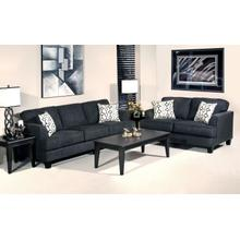 SAPRANO EBONY SOFA & LOVESEAT