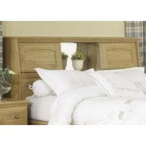Lang Furniture Oak Queen Size Bookcase Headboard