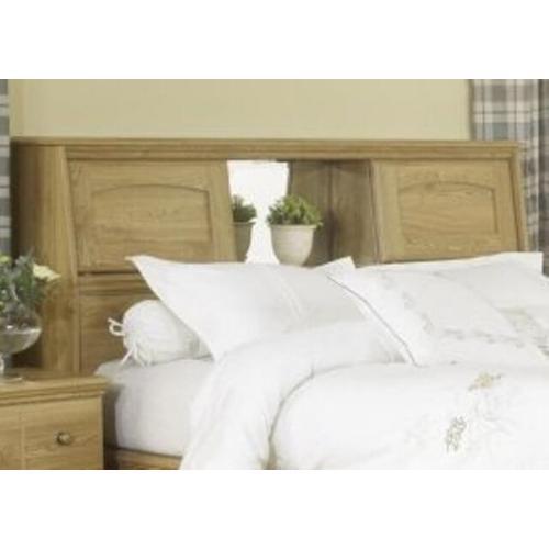 Factory Closeouts - Lang Furniture Oak Queen Size Bookcase Headboard